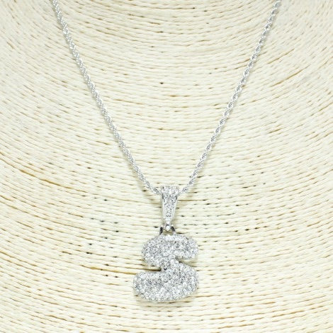 Rhinestone Letter Necklace - Mint Leafe Boutique