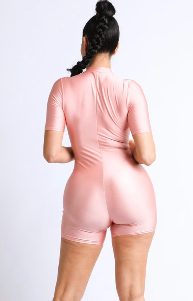 "Fitted Biker Romper ""ROSE EDITION"" - Mint Leafe Boutique"