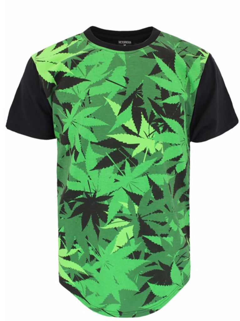 Patch Work Weed Shirt - Mint Leafe Boutique