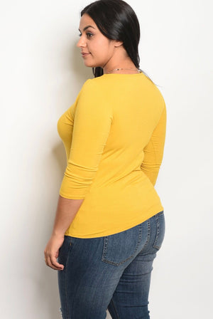 Mustard Top - Mint Leafe Boutique