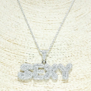 "Bling Out ""SEXY"" Necklace - Mint Leafe Boutique"