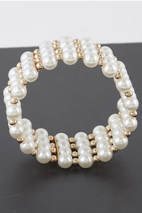 Pearl Beaded Bracelet - Mint Leafe Boutique