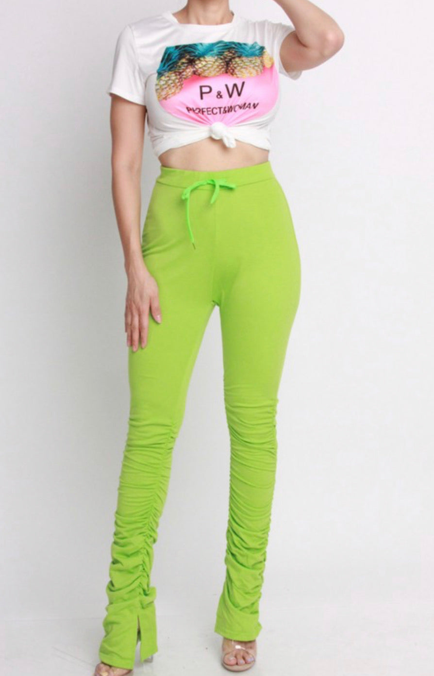 """Boss Inn"" Ruche Pants - Mint Leafe Boutique"