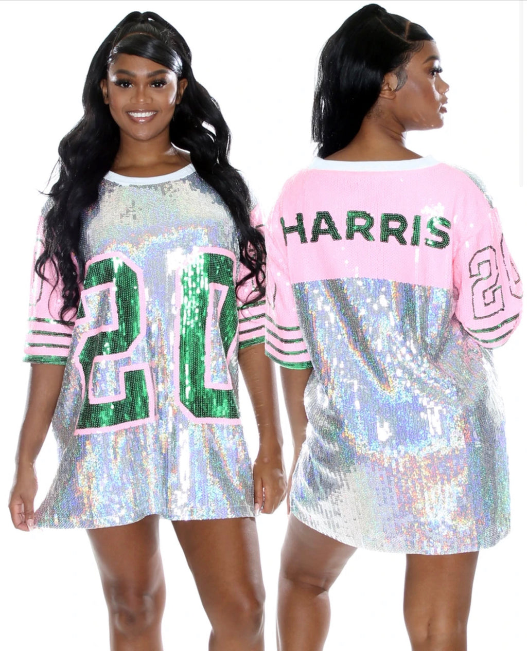 """20 HARRIS"" Sequins Oversize Dress - Mint Leafe Boutique"