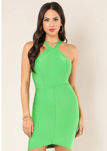 """St. FASHION SHOW"" Bandage Dress - Mint Leafe Boutique"