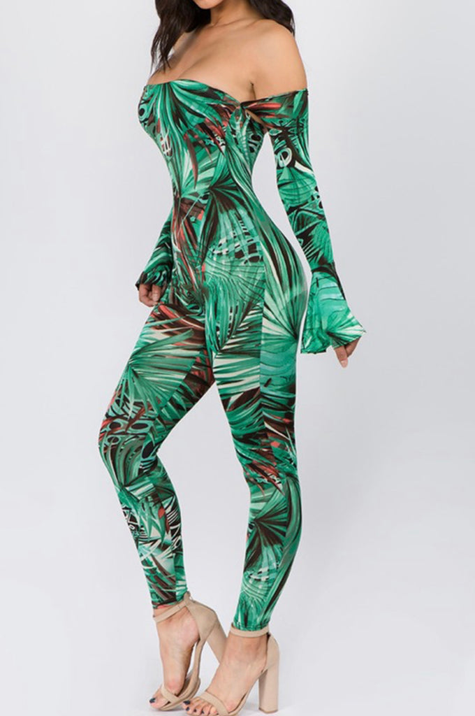 Fierce Print Catsuit - Mint Leafe Boutique