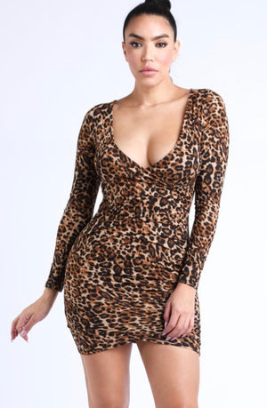 Leopard Mini Dress - Mint Leafe Boutique