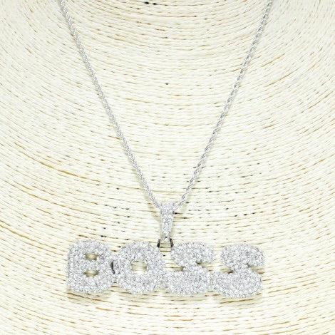 I'm a BOSS Necklace (Silver) - Mint Leafe Boutique