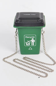 Recycle Trash Can Handbag - Mint Leafe Boutique