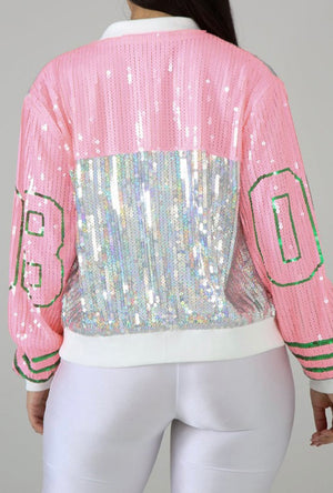 """HEADQUARTERS"" Sequins Jacket - Mint Leafe Boutique"