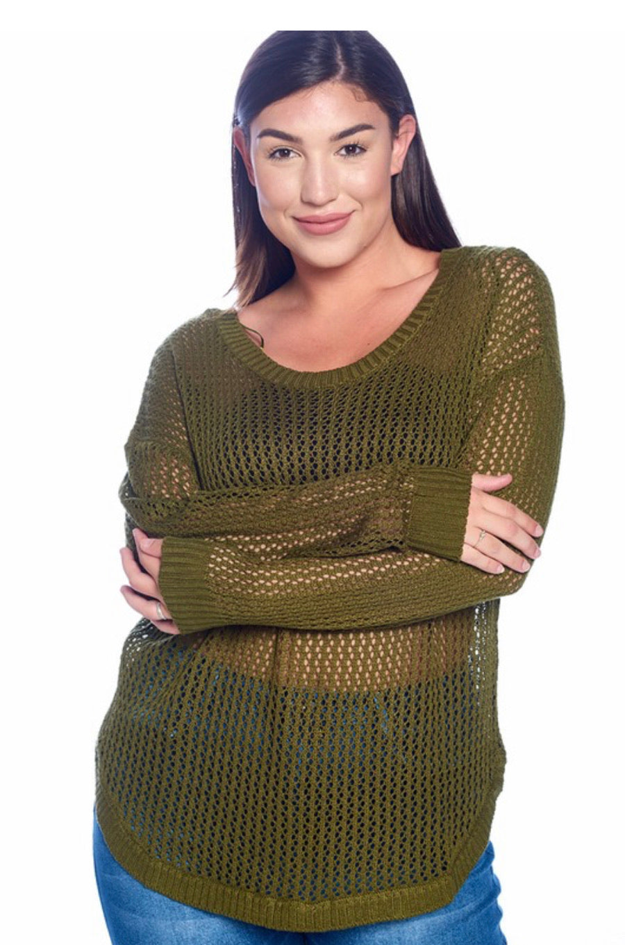 Fishnet Pullover Top - Mint Leafe Boutique