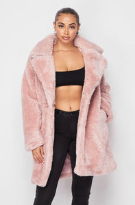 """Candy Gal"" Fur Coat - Mint Leafe Boutique"