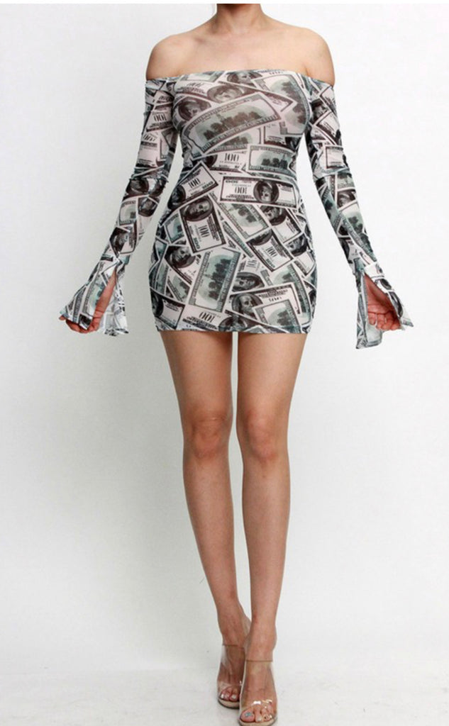 """I MAKE MONEY"" Dress - Mint Leafe Boutique"