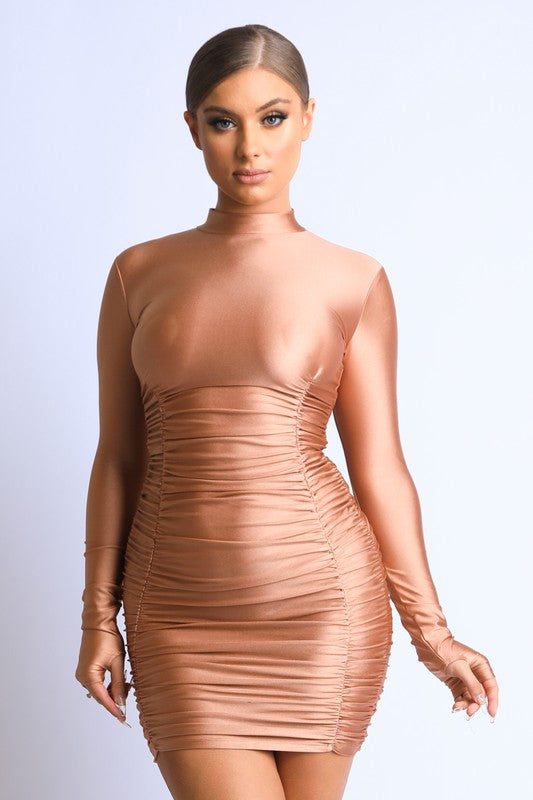 """Nude Listings"" Bodycon Fitted Dress"