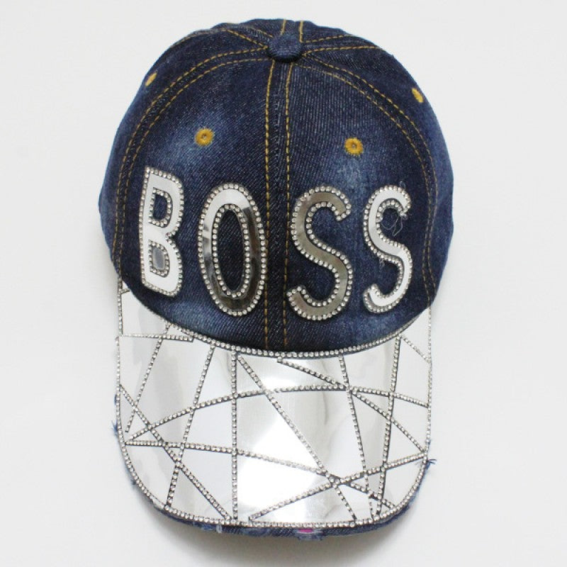"Denim ""BOSS"" Hat - Mint Leafe Boutique"