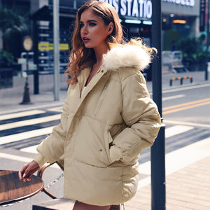 """So Cold"" Winter Beige Coat - Mint Leafe Boutique"