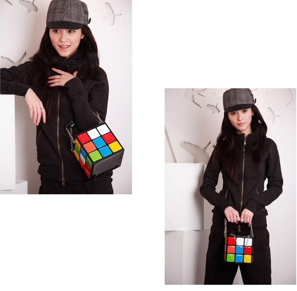 Casual Rubix Cube Handbag - Mint Leafe Boutique