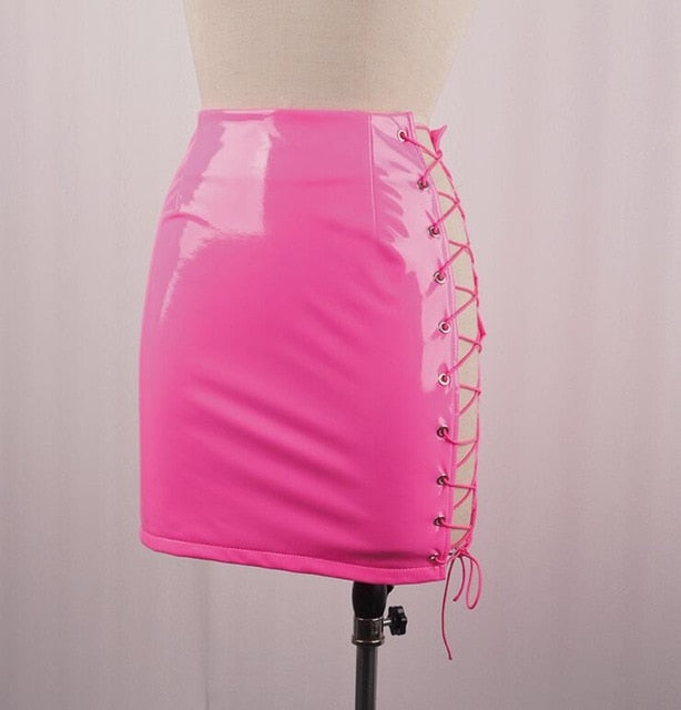 Sexy Lace Up Skirt - Mint Leafe Boutique