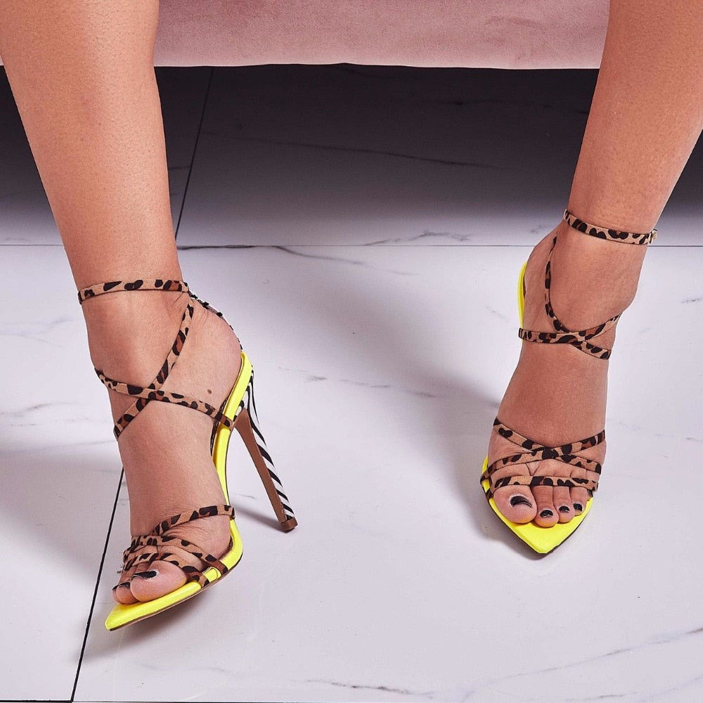 Aaliyah's Gladiator Heels - Mint Leafe Boutique