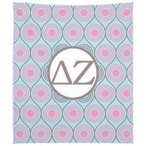 Delta Zeta - Woven Tapestry - Custom Circles Design
