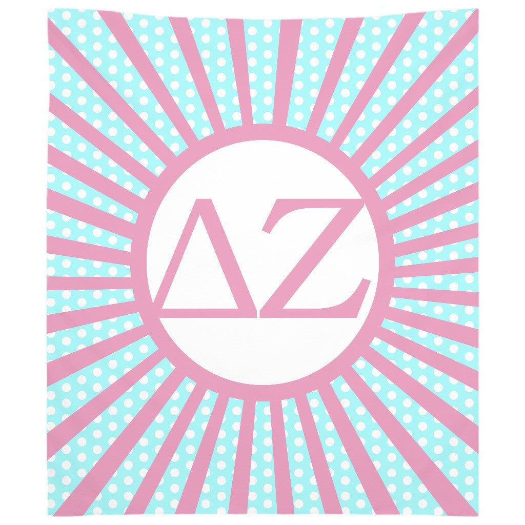 Delta Zeta - Woven Tapestry - Custom Sunburst Design
