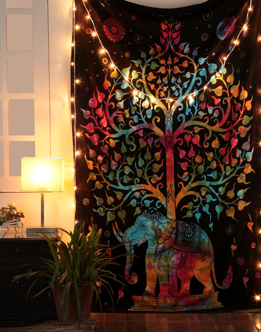 Stunning Black & Colorful Tapestry - Perfect For Dorm rooms