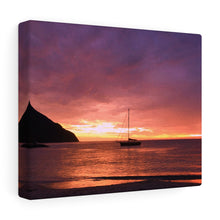 Caribbean Sunset IV Canvas Gallery Wrap