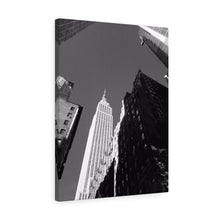 Empire State Building Monochrome Canvas Gallery Wrap