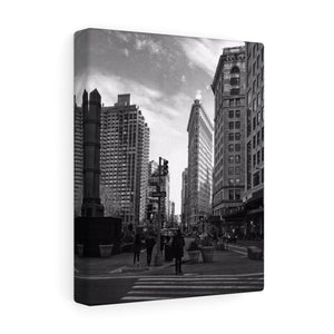 Flatiron Building Monochrome Canvas Gallery Wrap
