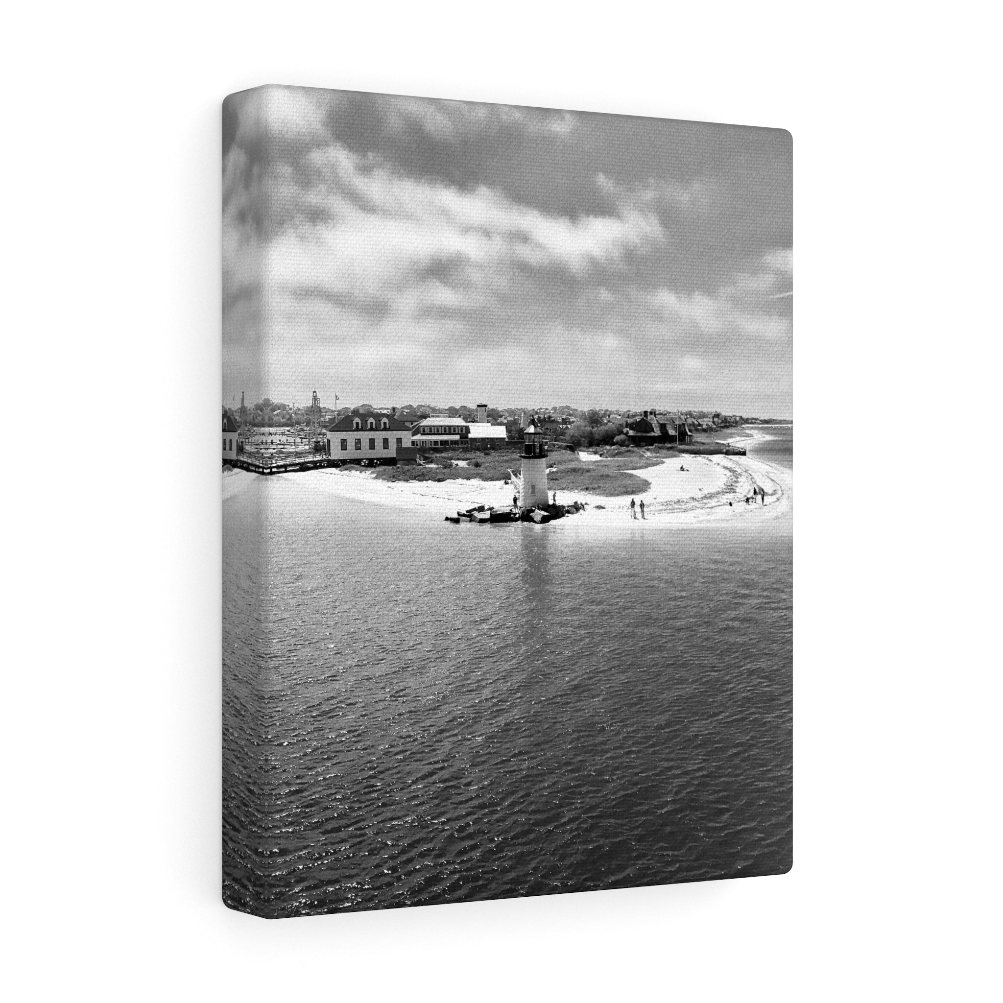 Nantucket Arrival II Monochrome Canvas Gallery Wrap