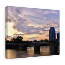 Grand River Sunset Canvas Gallery Wrap