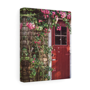 Rose Covered Cottage Canvas Gallery Wrap
