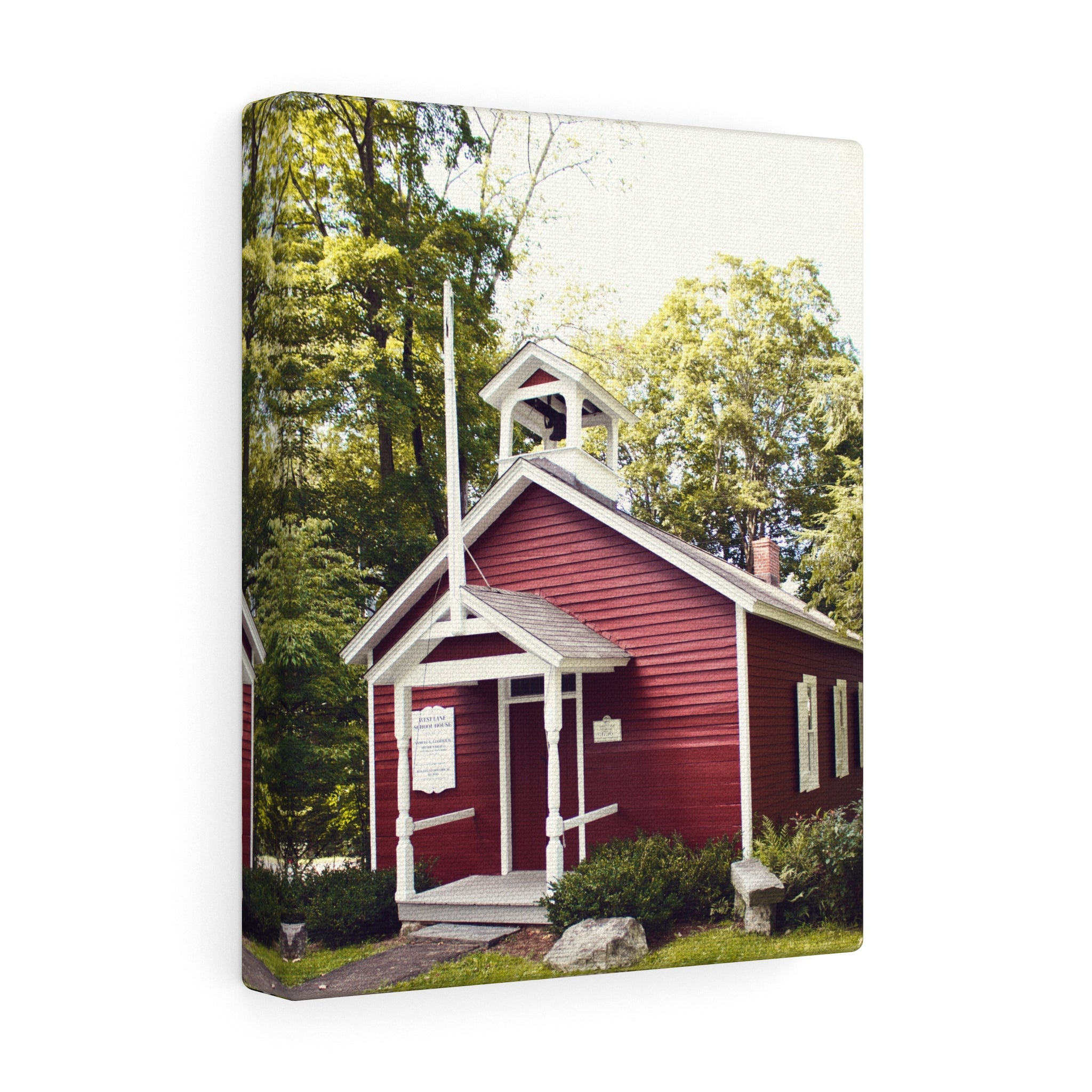 The West Lane Schoolhouse Canvas Gallery Wrap