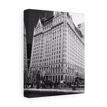 The Plaza Hotel Monochrome Canvas Gallery Wrap