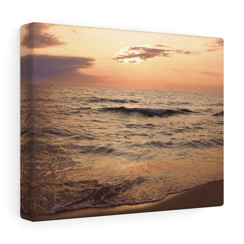 Great Lake Sunset I Canvas Gallery Wrap