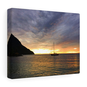 Caribbean Sunset VII Canvas Gallery Wrap