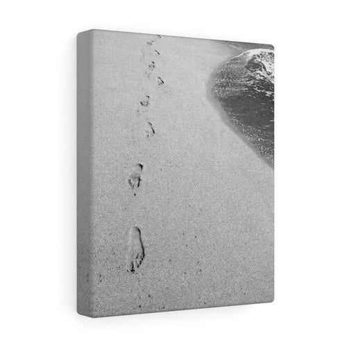 One Step at a Time Monochrome Canvas Gallery Wrap