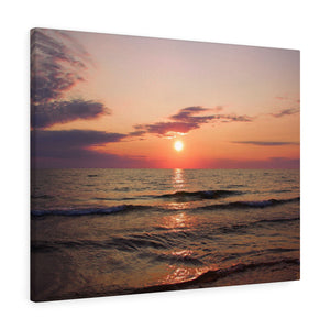 Great Lake Sunset VI Canvas Gallery Wrap