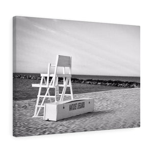 Nantucket Lifeguard Monochrome Canvas Gallery Wrap