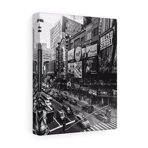 Times Square Monochrome Canvas Gallery Wrap