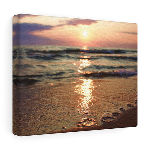 Great Lake Sunset V Canvas Gallery Wrap