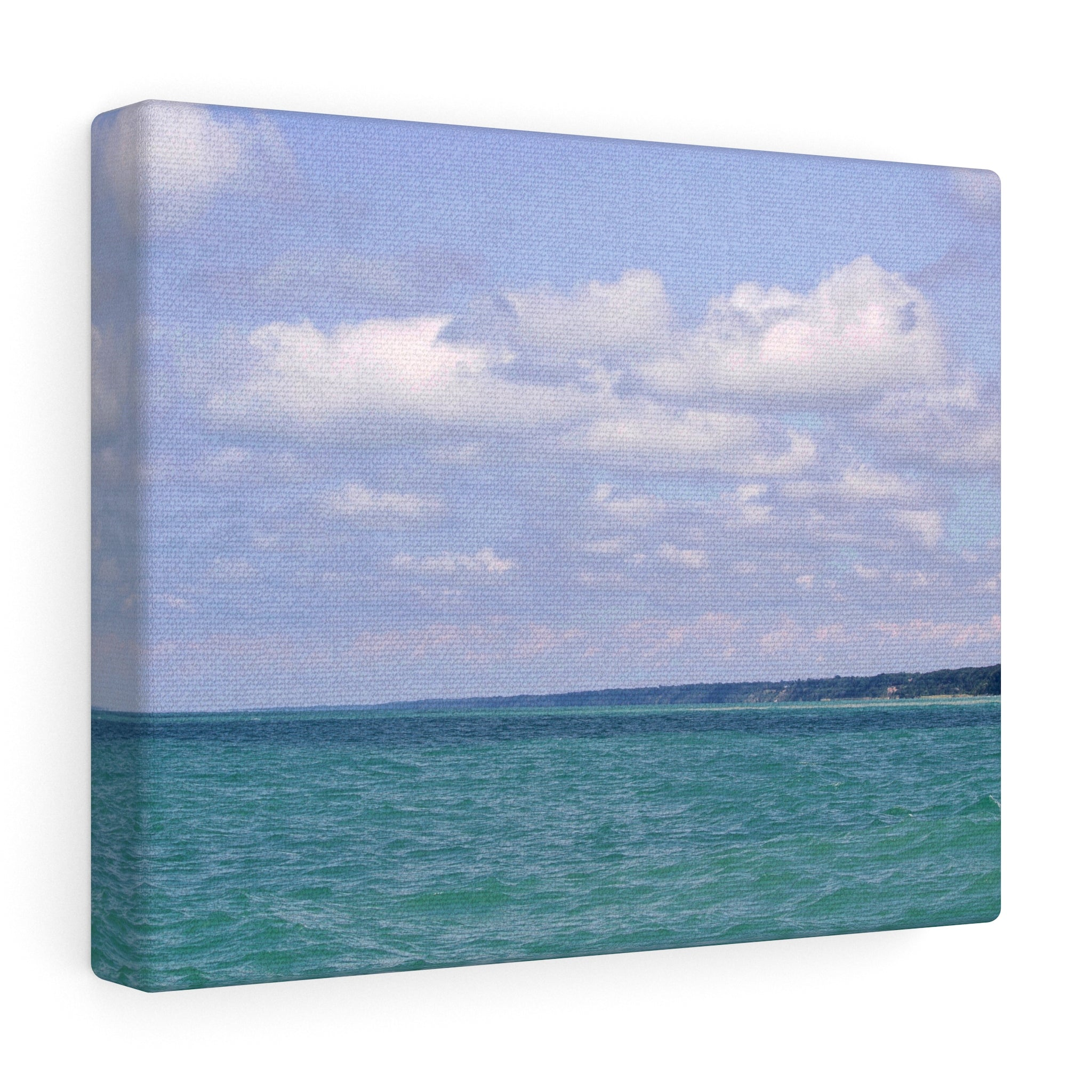 The Disappearing Coastline Canvas Gallery Wrap