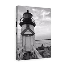 Brant Point Lighthouse Monochrome Canvas Gallery Wrap