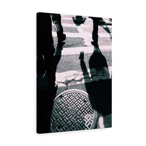 Crosswalk Monochrome Canvas Gallery Wrap