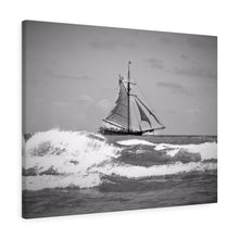 The Pirate Ship Monochrome Canvas Gallery Wrap