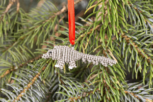 Beaded Pangolin Ornament
