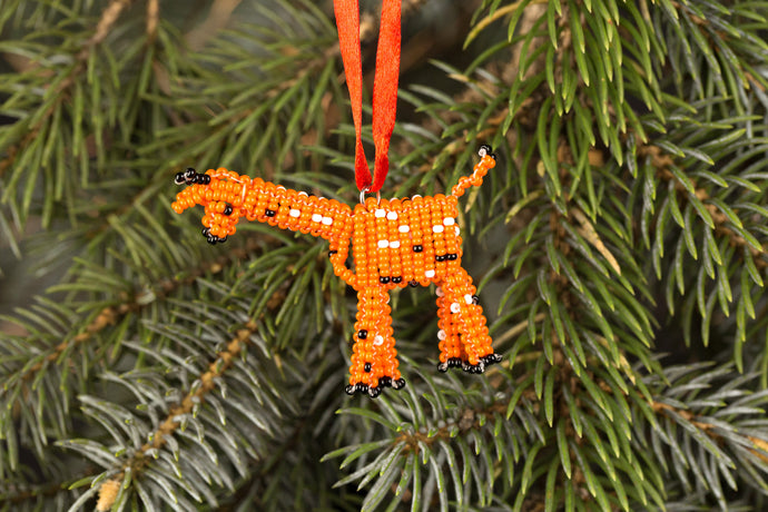 Beaded Giraffe Ornament