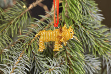 Beaded Lion Ornament