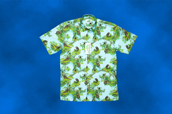 Sloth Hawaiian Style Shirt