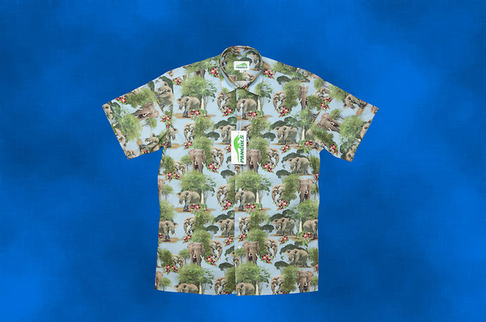 Central African Elephant Hawaiian Style Shirt